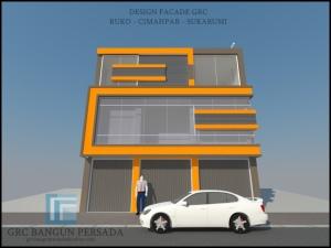 Design Facade Ruko - Cimahpar - Sukabumi