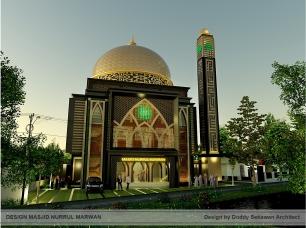 Kubah masjid GRC Bangun Persada